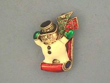 Snowman Sled Pin,LOOK OUT!,R/Ss,Nice!