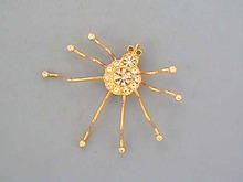 Rhinestone Spider Brooch/Pend,Gorgeous!