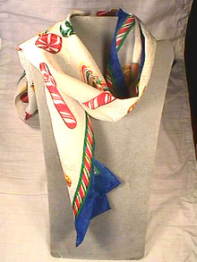 Christmas Candy Scarf,Long,Beautiful!