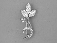 Rhinestone Flower Pin,Navettes,Stylish!