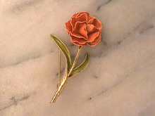Weiss Enameled Flower Pin,Vintage