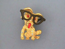 Dog Glasses Pin,Movable,Adorable!