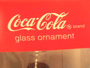 Coca-Cola Bottle Glass Ornaments,MIB,(2)