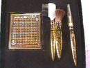 Whiting Davis Set,Vintage,Mirrors,Brushes