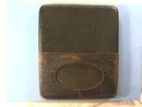 Old Cigarette Case,1950s,Leather,Hinged