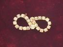 Infinity Rhinestone Pin,Vintage, Nice!