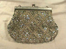 Deco Sequinned Purse,Vintage,Beaded