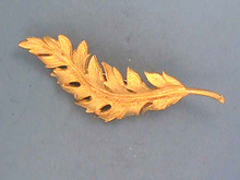 1951 Coro Feather Pin,Matte Textured,Dated