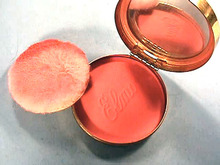 Elmo Vint  Blush Powder Compact, Attention RED
