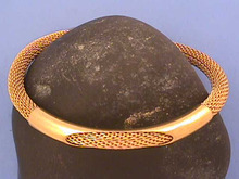 Signed Mesh Bracelet,G/T,Tube,Vintage