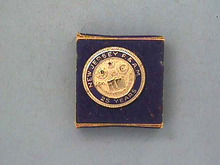 New Jersey Masons,Free & Accepted Pin,25 Yrs,Screw