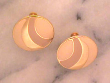 Napier Enamelled Earrings,Vintage,Neutrals