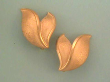 Crown Trifari Earrings,Vintage,Leaves