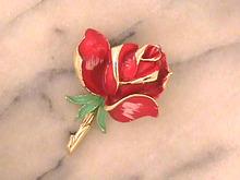 Wonderful Rose Pin,Unique,Vintage,Fab!