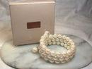 Signed Wrap Bracelet,Pearlesque,Adjustble