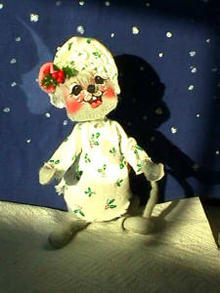 Annalee Doll Bedtime Mouse w/shirt&cap '91