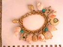 Vintage Charm Bracelet,Designer,Sea Shore Fab