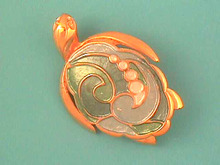 Enamelled Turtle Pin,Pastel Colors,Nice!