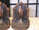 Art Deco Vintage Antique Peacock Bookends, Stunning!