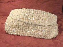 Designer Vintage Clutch,Sequins, Bugle Beads