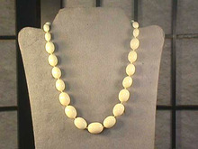 Trifari Oval Necklace,Off-White,Knotted,Graduated