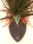 African Tribal Mask,Handmade,Pin Very Nice!