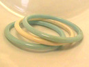 Vintage Bangle Lot,9 Each,Nice Colors