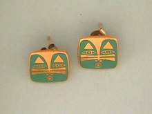 Laurel Burch Earrings,Face,Mask,Cat,Lion