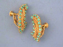 Gorgeous Hobe Earrings,Turquoise R/Ss,Mesh