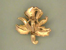 Enamelled Orchid Iris Pin,Vintage,Stone