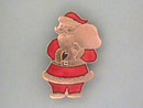 Enamelled Santa Pin,Nice!!  Christmas!