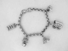 Coro Charm Bracelet,Moving,Vintage,Nice!