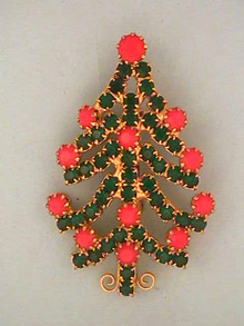 Christmas Tree Pin,Vintage, Gorgeous!