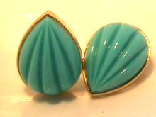 Kenneth Lane Earrings,Vintage,Turquoise Color