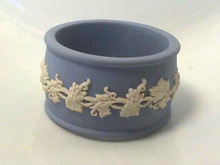 Wedgwood Napkin Ring,Jasperware,B&W