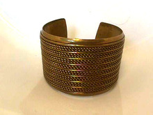 Wide Brass Cuff,Twisted wires,Nice!
