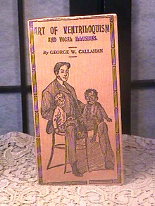 Art Of Ventriloquism,Vocal Illusions Bk,Old,Rare
