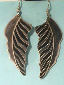 Laurel Burch Earrings,Long,Black/Silver