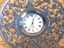 Lenox Clock Kirk Stieff Pewter Filigree Floral Design