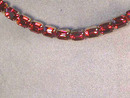 WEISS Red Necklace,Prong Set,Gorgeous!