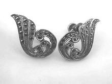 Older Marcasite Earrings,Sterling,Art Nouveau
