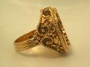 Unicorn Sachet Ring,Vintage,Hinged,Gaudy!