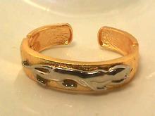 Panther Hinged Bracelet,2 Tone,Dbl Hinge