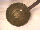 Old Handmade Ladel,Iron handle,LARGE Cup,Patina