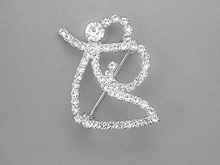 Rhinestone Angel Pin,Simple,Prong Set,Nice!