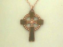 Old Marcasite Cross,Jade,Irish,S/S,Signed