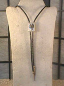 Old Western Bolo,Saddle,Black,Cowboy Up!