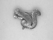 Sterling Squirrel Pin,Old,Signed,W/nut