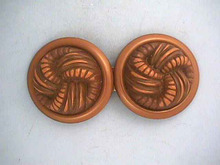 Old Belt Buckle,Resin,Celluloid,Bake,2 Pc