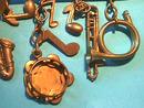 Musical Collage Pin,Vintage,Drops,Unique!